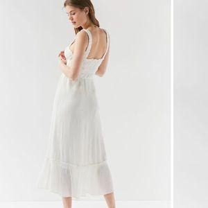 805132877c Urban Outfitters Dresses - UO ophelia ruffle hem midi dress white breezy